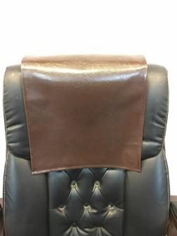 """16"""" x 16"""" Chocolate Houston Recliner Protector Head Rest Cov"""