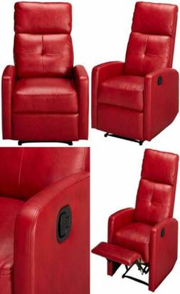 Christopher Knight Home 296603 Teyana Red Leather Recliner C