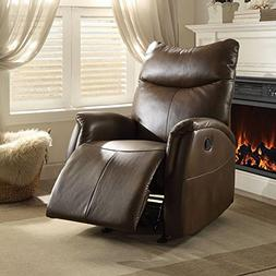 ACME Furniture 59436 Riso Rocker Recliner, Brown Leather-Air