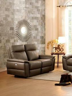 8308-2PW Olympia Top Grain Leather Power Double Reclining Lo