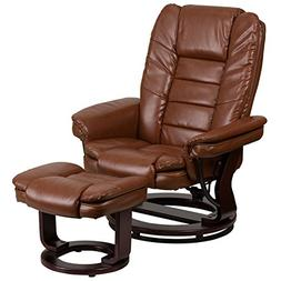 Flash Furniture Contemporary Brown Vintage Leather Recliner