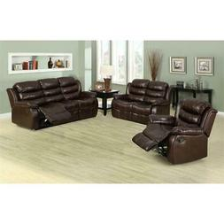 Furniture of America Anchester Faux Leather Reclining Lovese
