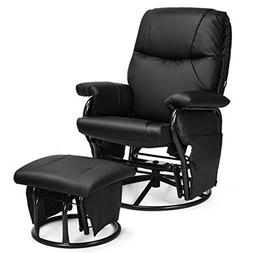 Armchair with Ottoman Recliner Glider Swivel Rocking Chair F