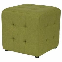 Flash Furniture Avendale Tufted Ottoman in Green