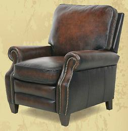 Barcalounger Briarwood II Genuine Stetson Coffee Leather Rec