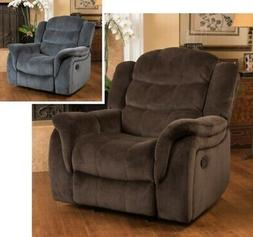 Brown or Gray Glider Recliner Recliners Armchairs Lazy Arm C