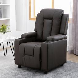 Brown Recliner Chair Sofa Couches Armchair Relaxer Lounge Pa