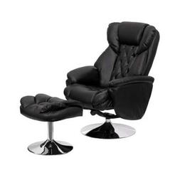 Flash Furniture Transitional Black Leather Recliner and Otto
