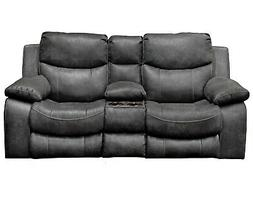 Catnapper Catalina Reclining Console Loveseat with Storage a