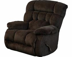 Catnapper Daly Chaise Swivel Glider Recliner in Chocolate