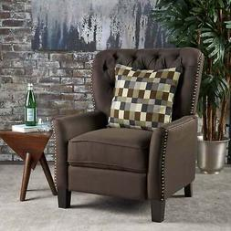 Cerelia Tufted Fabric Recliner by Christopher Knight Home