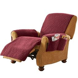 Chair Covers For Living Room Dining Solid Fleece Recliner Fu