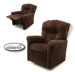 Child Rocking Chair Recliner - Chocolate Micro Suede