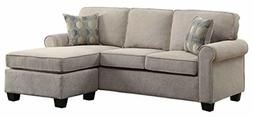 """Homelegance Clumber 82"""" Reversible Sectional with Accent Pil"""
