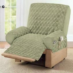 Collections Etc Diamond Quilted Stretch Recliner Cover with