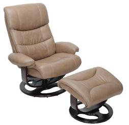 Barcalounger Dawson Frampton Brown Leather Pedestal Recliner