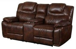 dual reclining loveseat center console with cup