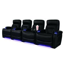 Barcalounger Eclipse Home Theater Seating Black Leather Gel