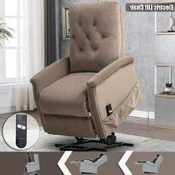 Electric Power Lift Recliner Chair Microfiber Elderly Armcha