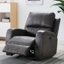 electric power recliner chair suede ergonomic thick