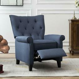 Push Back Recliner Accent Chair Elizabeth Padded Seat Living