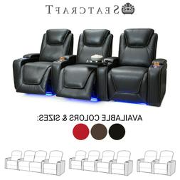 Seatcraft Equinox Leather Home Theater Seating Recliners Sea