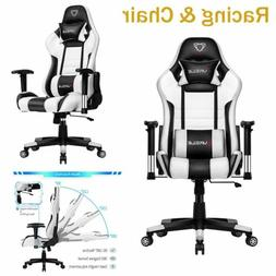 Ergonomic Gaming Chair Racing High Back PU Leather Office Co