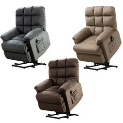 Fabric Power Lift Chair Electric Recliner for Elderly 3 Posi