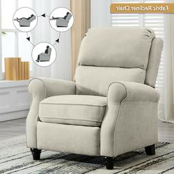 Fabric Push Back Recliner Chair Living Room Sofa Overstuffed