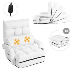 floor chair convertible bed with massage pillow