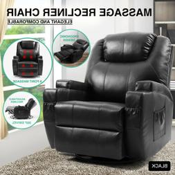 Full Body Massage Recliner Chair Leather Vibrating Heat Loun
