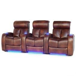 Barcalounger Gala Home Theater Seating Leather Chairs Power