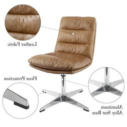 Genuine Leather Home Office Desk Chair Upholstered Swivel Ch