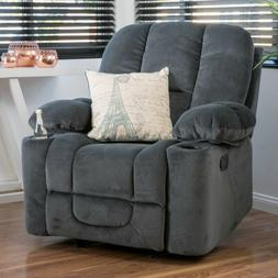 Gray Glider Arm Chair Recliner Recliners Chairs Armchair Arm