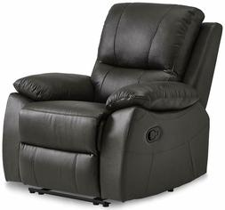 Homelegance Greeley Reclining Chair Top Grain Leather Match,