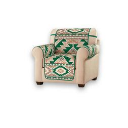 Green Southwest Print Furniture Protector