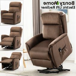 High End Push Back Recliner Chair Soft Padded Back Bedroom L