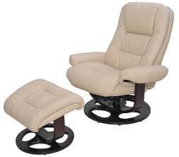 Barcalounger Jacque II Genuine Ivory Hilton Leather Recliner