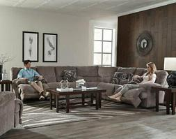Catnapper - Jules 3 Piece Reclining Sectional in Pewter - 22