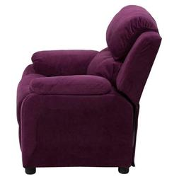 Kids Accent Chair Purple Upholstered Home Decor Furniture He