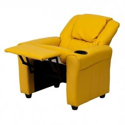 Kids Furniture Chair Childrens Yellow Upholstered Living Roo