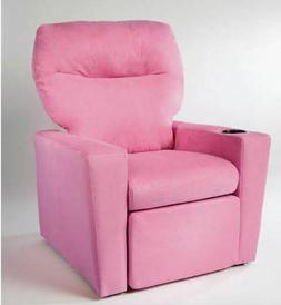 Kids Pink Recliner Child Size Chair Soft Seat Microfiber- Br