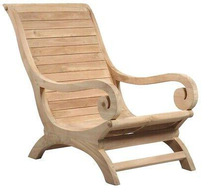 """36"""" Hand Crafted Solid Wood Rolled Recline"""