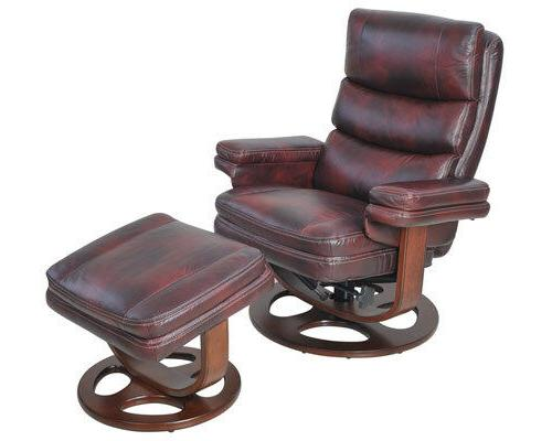 Barcalounger Bella II Pedestal Recliner Leather Recliner and