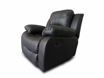 bonded leather recliner chair