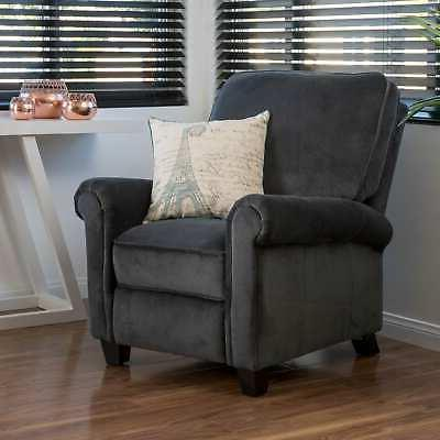 Dallon Fabric Club Chair Home Grey Small
