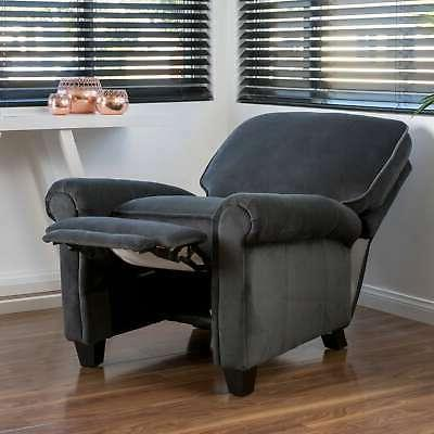 dallon fabric recliner club chair by grey