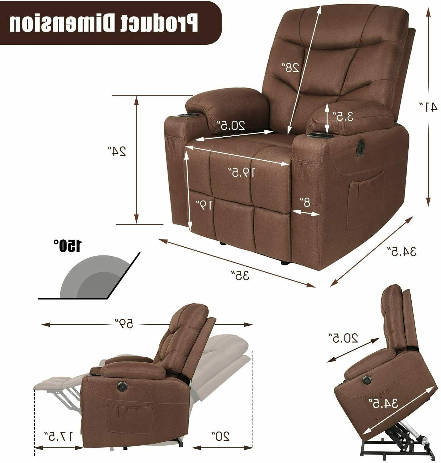 Electric Recliner Chair w/