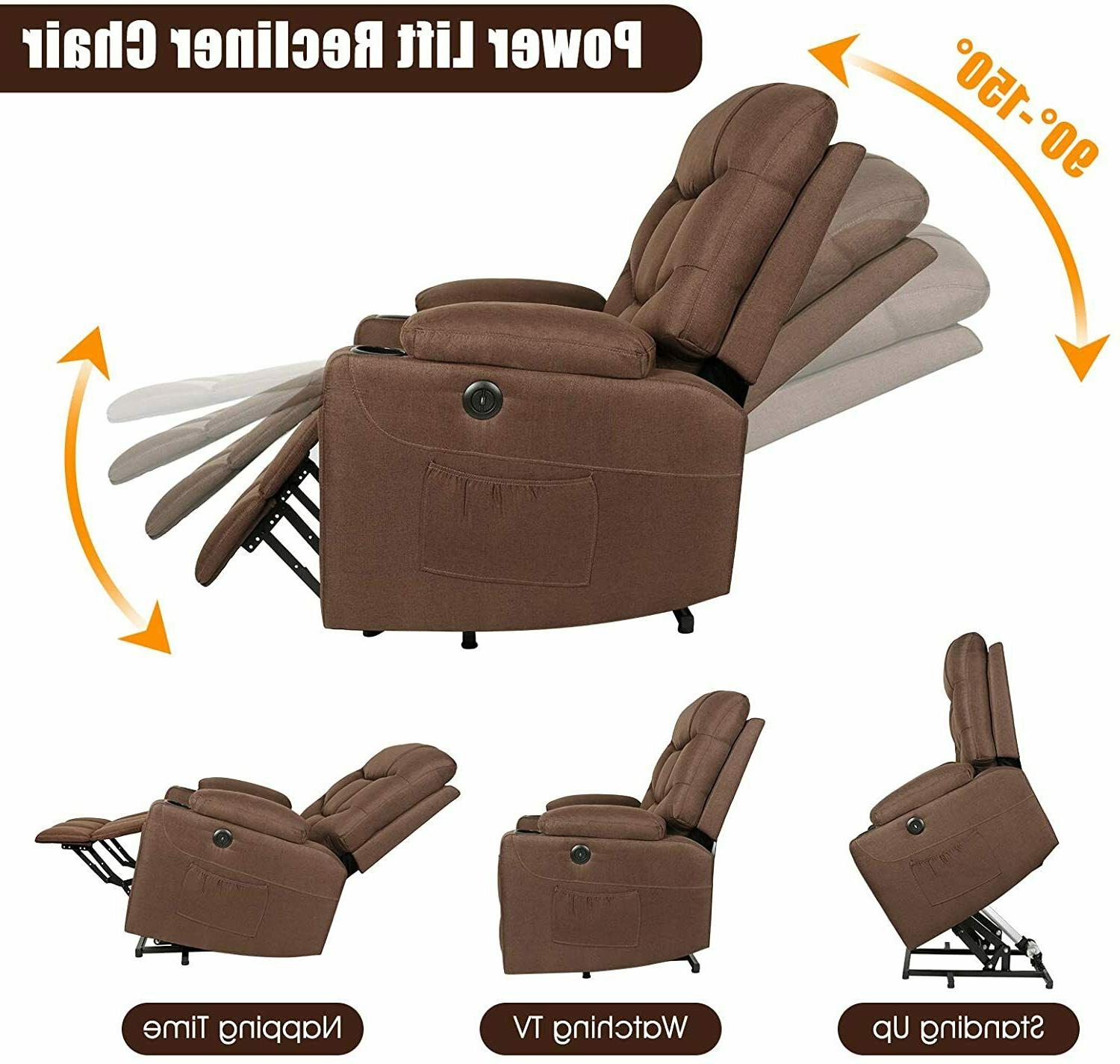 Electric Power Recliner Chair Heat Vibration w/