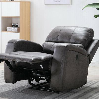ELECTRIC POWER SUEDE THICK PADDED SOFA USB